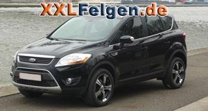 Ford Kuga + Straycat black 18 Zoll Felgen