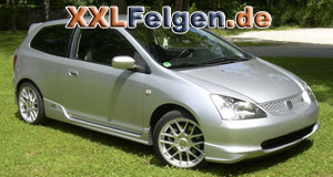 Honda Civic mit DBV Arizona 17 Zoll Felgen