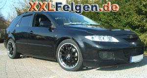 Mazda 6 mit DBV Australia black 18 Zoll Felgen