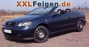 Opel Astra mit 17 Zoll Felgen DBV Florida black