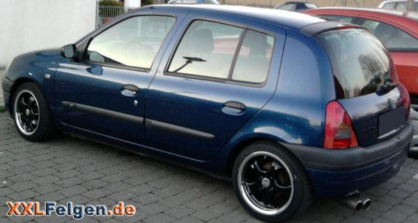 Schwarze DBV Felgen für den Renault Clio