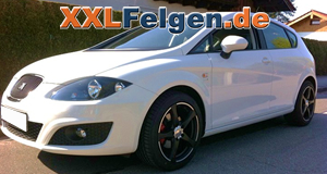Seat Leon + DBV Venezia black 17 Zoll