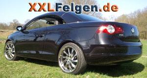VW Eos mit DBV Milano 19 Zoll Hyperlack Felgen