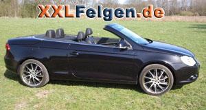 VW Eos + DBV Milano black 19 Zoll Felgen