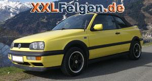 VW Golf Cabrio + DBV Tahiti black Felgen 15 zoll