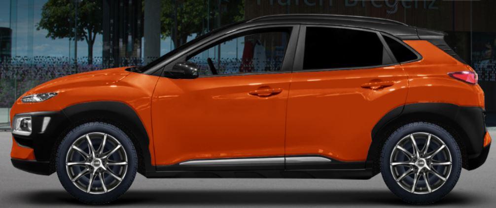Hyundai Kona OS Felgen DBV Tropez dark schwarz frontpoliert
