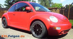 VW Beetle 17 Zoll Felgen in schwarz